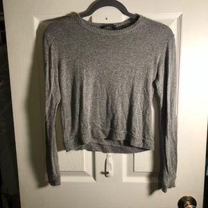 Gray Crop Top Sweater